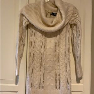 Club Monaco cream wool off shoulder sweater